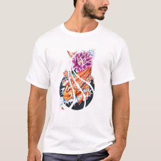 Cool Oriental Japanese Orange Koi Fish Carp Lotus T-Shirt