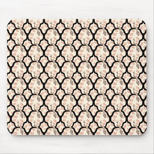 Cool oriental japanese peacook pattern mouse pad