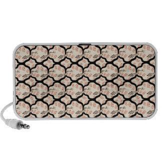Cool oriental japanese peacook pattern travel speaker