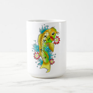 Cool oriental japanese rainbow koi carp fish coffee mug