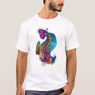 Cool Oriental Japanese Rainbow Koi Carp Fish T-Shirt