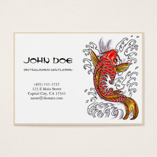 Cool oriental japanese red ink lucky koi fish