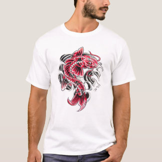 Cool Oriental Japanese Red Koi Carp Fish tattoo T-Shirt