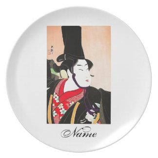 Cool Oriental Japanese Sanbaso tattoo Plate