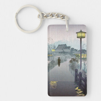 Cool oriental japanese shiro night rain shinobazu key ring