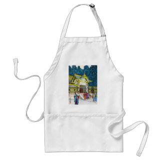 Cool oriental japanese shrine temple people hanga standard apron