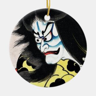 Cool Oriental Japanese Togakushi tattoo Round Ceramic Decoration