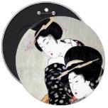 Cool Oriental Japanese Traditional Geisha art 6 Cm Round Badge