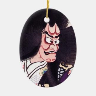 Cool Oriental Japanese Tsuchigumo tattoo Ceramic Oval Decoration