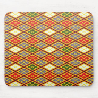 Cool oriental japanese vibrant pattern flower mouse pad