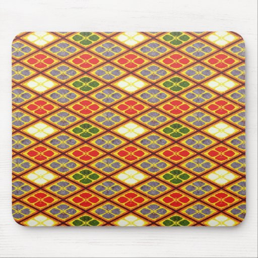 Cool oriental japanese vibrant pattern flower mousepad
