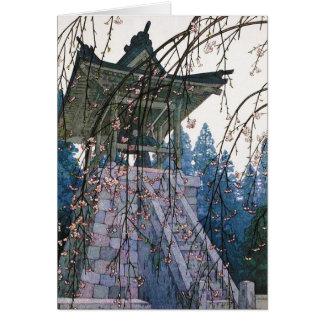 Cool oriental japanese Yoshida Temple Shrine art Note Card