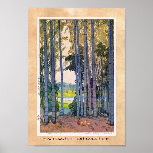 Cool oriental japanse Yoshida Bamboo Forest art Poster