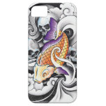 Cool Oriental Koi Carp Skull tattoo Barely There iPhone 5 Case