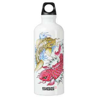 Cool Oriental Koi Fish Red Gold Yin Yang tattoo SIGG Traveller 0.6L Water Bottle