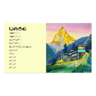 Cool oriental mountain pass summer scene land Double-Sided standard business cards (Pack of 100)