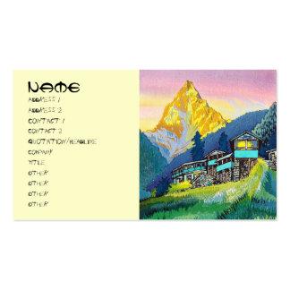 Cool oriental mountain pass summer scene land pack of standard business cards