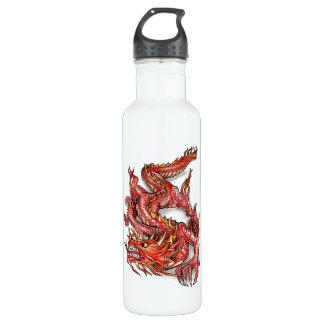 Cool Oriental Red Dragon Tattoo 710 Ml Water Bottle