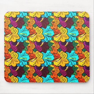 Cool oriental spring colourful flowers mousepad