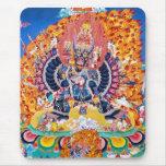 Cool oriental tangka Yamantaka death god tattoo