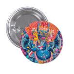 Cool oriental tangka Yamantaka death god tattoo 3 Cm Round Badge