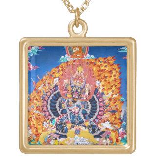 Cool oriental tangka Yamantaka death god tattoo Personalized Necklace