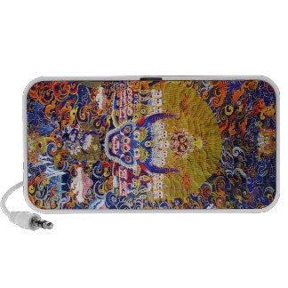 Cool oriental tangka Yamantaka death god tattoo Laptop Speaker