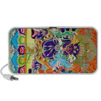 Cool oriental tangka Yamantaka death god tattoo Portable Speakers