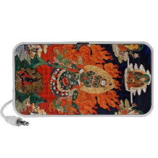 Cool oriental tibetan god thangka tattoo art iPod speakers