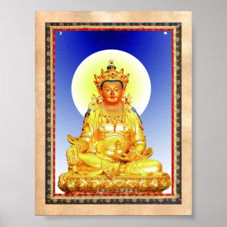 Cool oriental Tibetan Thangka art Poster