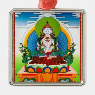 Cool oriental tibetan thangka Buddha Locani Christmas Ornament