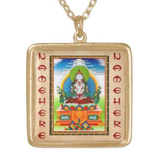 Cool oriental tibetan thangka Buddha Locani Necklaces