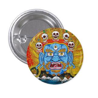 Cool oriental tibetan thangka demon tattoo art 3 cm round badge