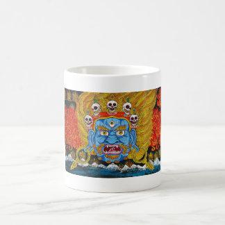 Cool oriental tibetan thangka demon tattoo art basic white mug
