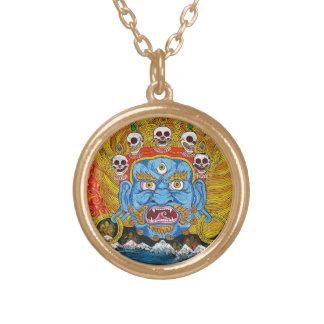 Cool oriental tibetan thangka demon tattoo art necklace
