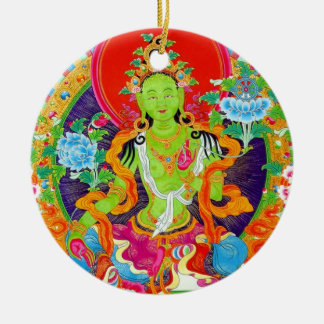 Cool oriental tibetan thangka god tattoo art christmas ornament