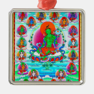 Cool oriental tibetan thangka Green Tara  tattoo Christmas Ornament