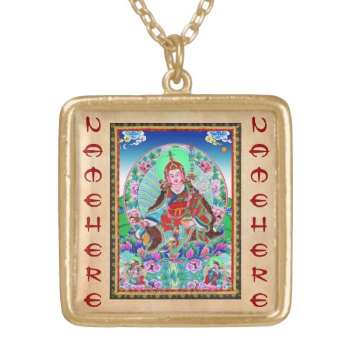 Cool oriental tibetan thangka Padmasambhava Necklaces