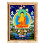 Cool oriental tibetan thangka Prabhutaratna Buddha Postcard