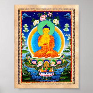 Cool oriental tibetan thangka Prabhutaratna Buddha Poster
