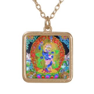 Cool oriental tibetan thangka Simhavaktra Dakini Personalized Necklace
