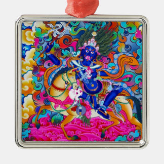 Cool oriental tibetan thangka tattoo Palden Lhamo Christmas Ornament