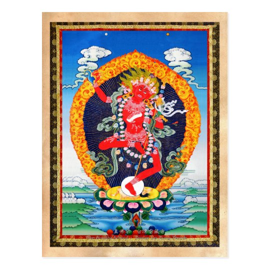 Cool oriental tibetan thangka tattoo Vajravarahi Postcard