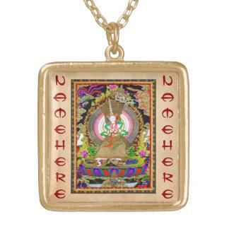 Cool oriental tibetan thangka Usnisa Sitatapatra Necklace