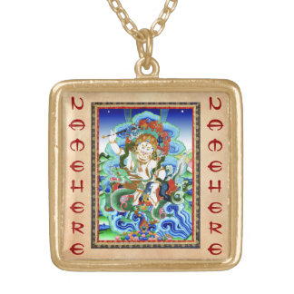 Cool oriental tibetan thangka White Jambhala Necklace