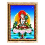 Cool oriental tibetan thangka White Tara tattoo Postcard