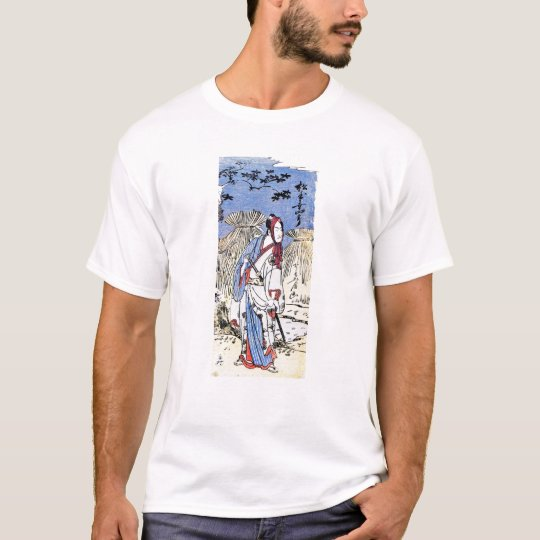 Cool Oriental Traditional Japanese Samurai art T-Shirt