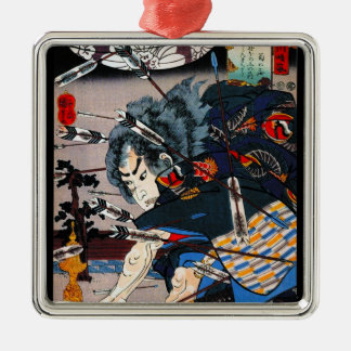 Cool oriental traditional japanese Samurai Warrior Christmas Ornament