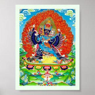Cool oriental Vajrabhaivara Yamantaka death god Poster