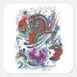 Cool Oriental Water Dragon Lotus